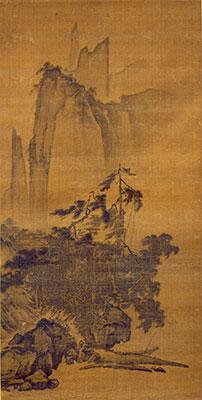 国宝《風雨山水図》伝馬遠 南宋時代(13世紀) (公財)静嘉堂蔵