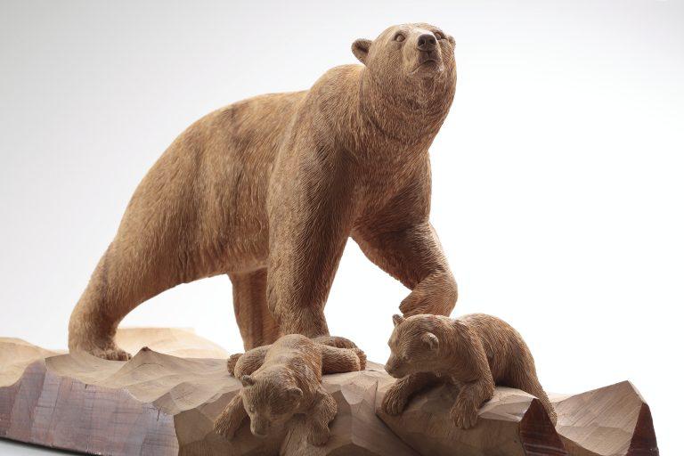 《白熊の親子》(部分)、1999年、個人蔵