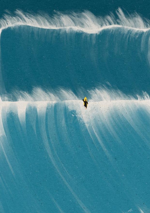 おすすめサーフアート『2nd Wave』