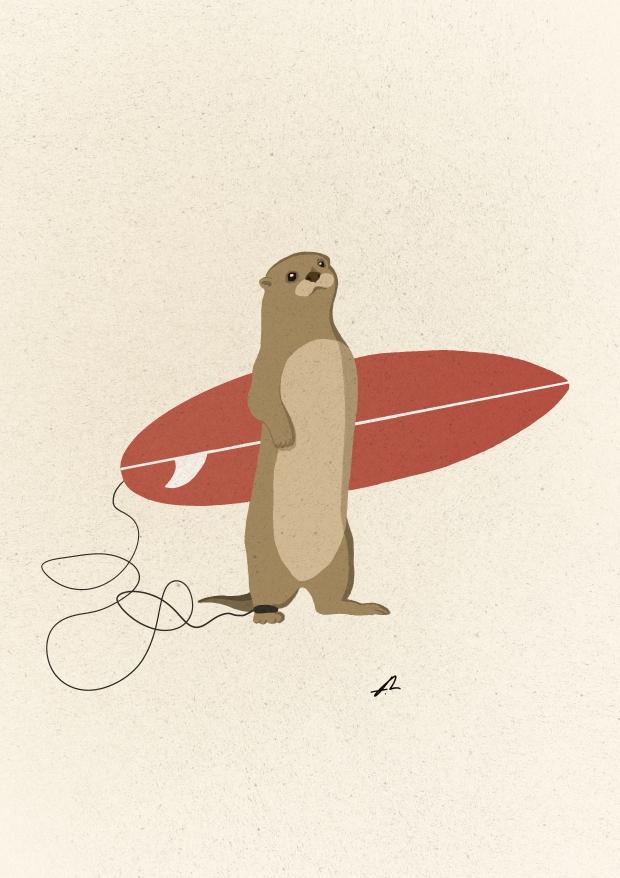 サーフアート『Surf Otter』