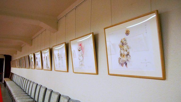 神田明神に奉納された作品の展示風景