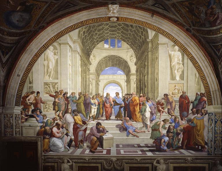 「アテナイの学堂」(フレスコ画)