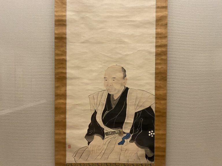 椿椿山『大橋淡雅像』 日本・江戸時代 19世紀 栃木県立博物館蔵