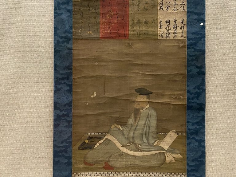 『柿本人麻呂像』 日本・室町時代 15世紀 根津美術館蔵