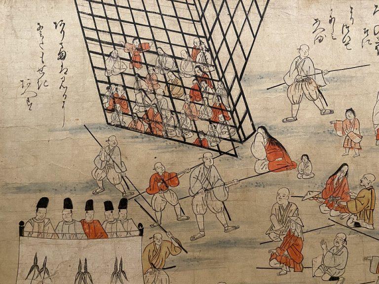 『幸若舞曲つきしま絵巻』(部分) 日本・室町時代 16世紀 根津美術館蔵