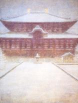 吉田善彦 《大仏殿春雪》 1969(昭和44)年 紙本・彩色 © Noriko Yoshida 2021 /JAA2100171