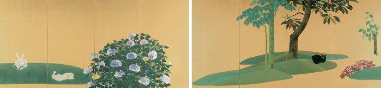 速水御舟 《翠苔緑芝》 1928(昭和3)年 紙本金地・彩色 山種美術館