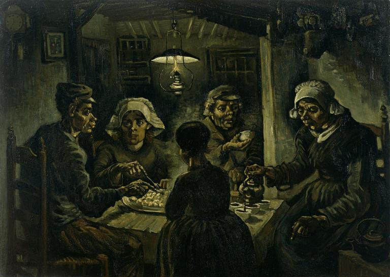 ゴッホの作品:『ジャガイモを食べる人々』