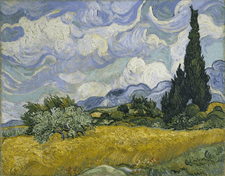ゴッホの作品『糸杉のある麦畑』