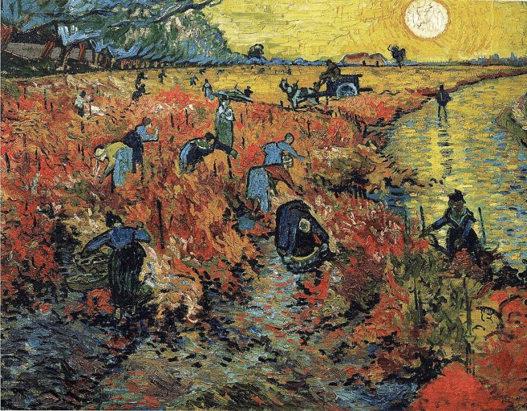ゴッホの作品『赤い葡萄畑』