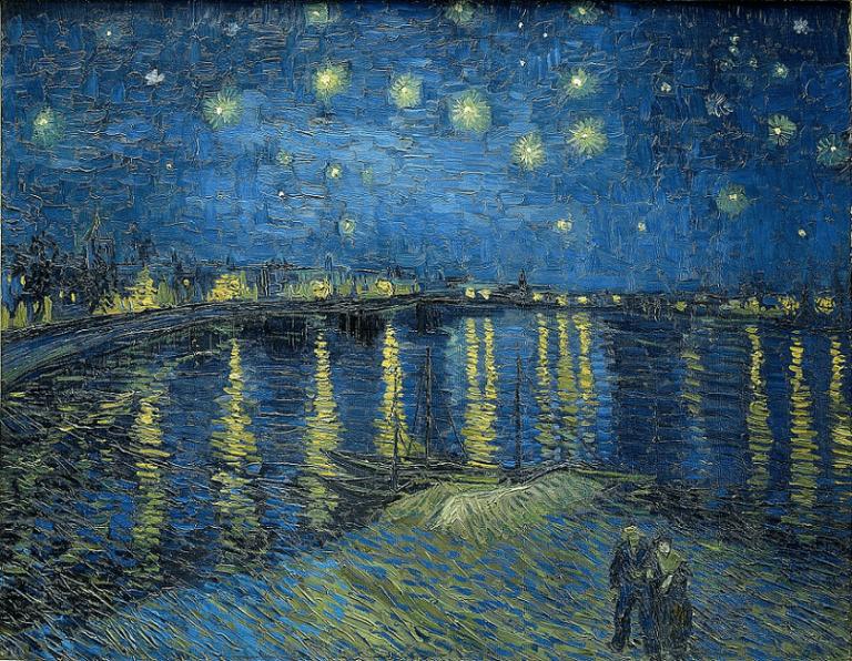 ゴッホの作品:『ローヌ川の星月夜』