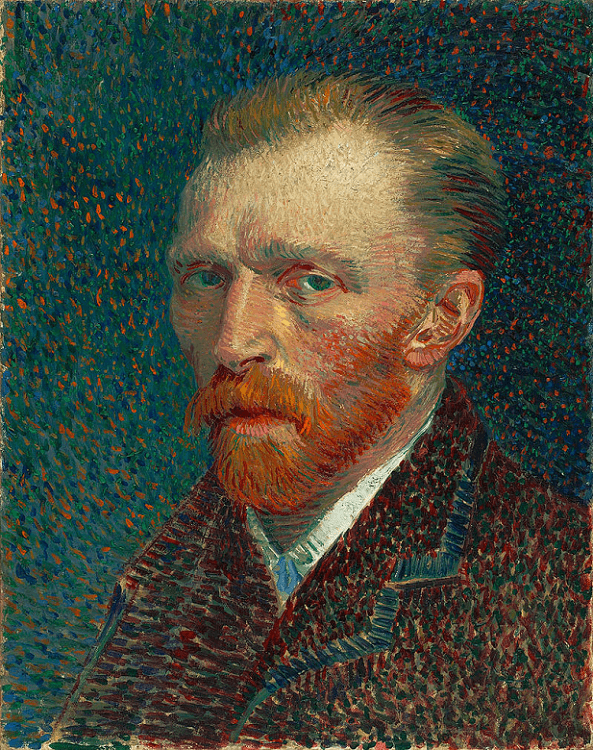 ゴッホ『自画像』(1887年春)