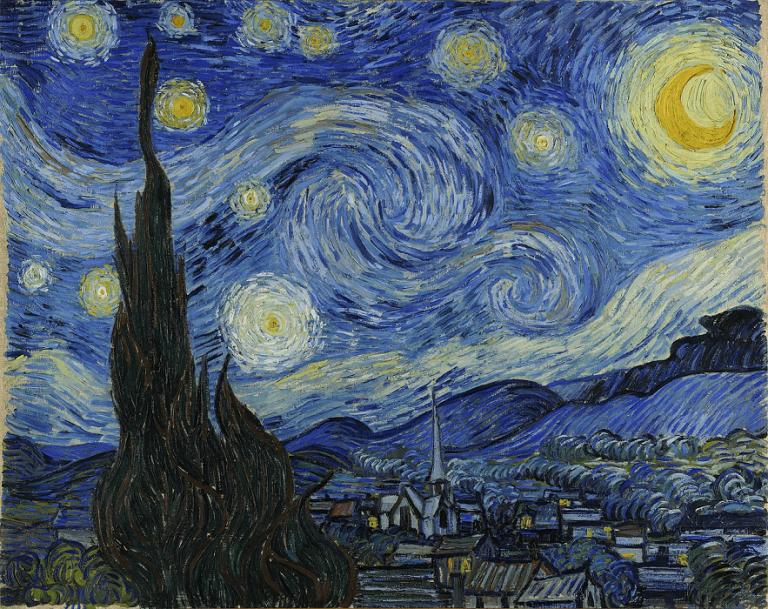 ゴッホの作品:『星月夜』