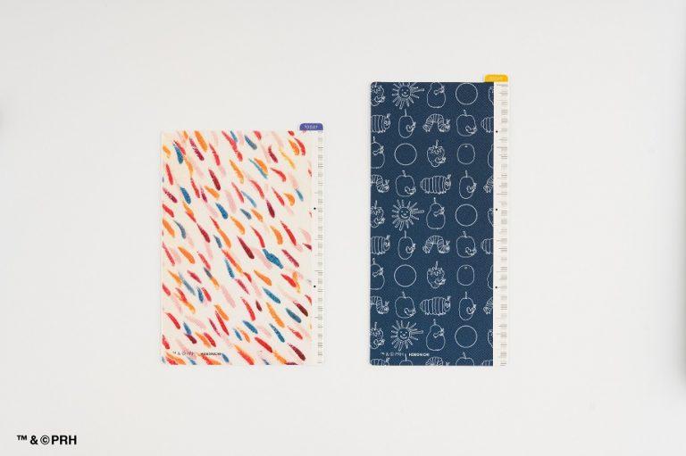 「ほぼ日手帳」 はらぺこあおむし 下敷き「オリジナルサイズ用」/「weeksサイズ用」裏面