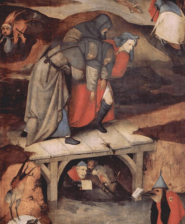 『聖アントニウスの誘惑』(左扉部分)
