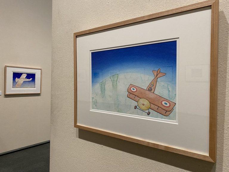 右:『飛行士と星の王子さま サン=テグジュペリの生涯』表紙原画 2014年