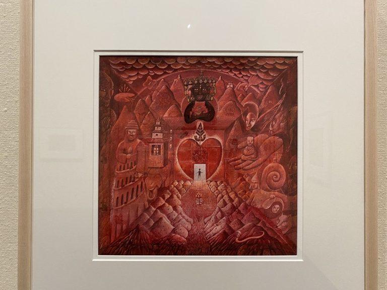 『チベット-赤い箱のひみつ』絵本原画 1998年